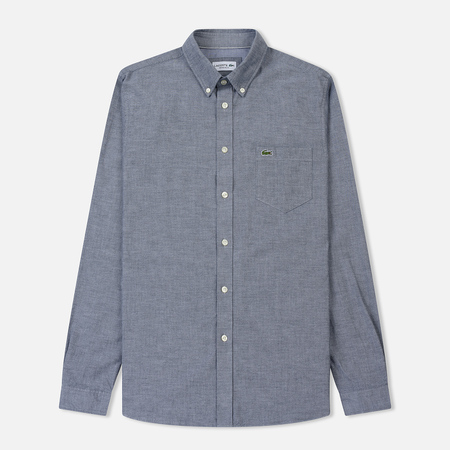 Мужская рубашка Lacoste Regular Fit Cotton Oxford Navy Blue