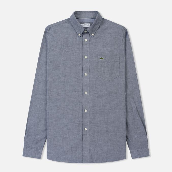 Мужская рубашка Lacoste Regular Fit Cotton Oxford Navy Blue