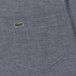 Мужская рубашка Lacoste Regular Fit Cotton Oxford Navy Blue фото- 2