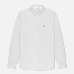 Мужская рубашка Lacoste Regular Fit Cotton Oxford White
