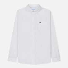 Мужская рубашка Lacoste Regular Fit Cotton Oxford White фото- 0