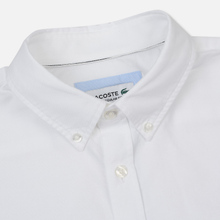 Мужская рубашка Lacoste Regular Fit Cotton Oxford White фото- 1