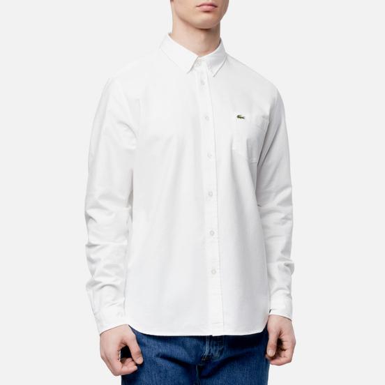 Мужская рубашка Lacoste Regular Fit Cotton Oxford White