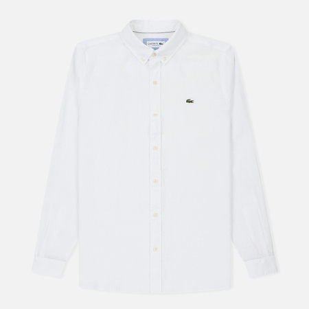 Мужская рубашка Lacoste Regular Fit Linen White