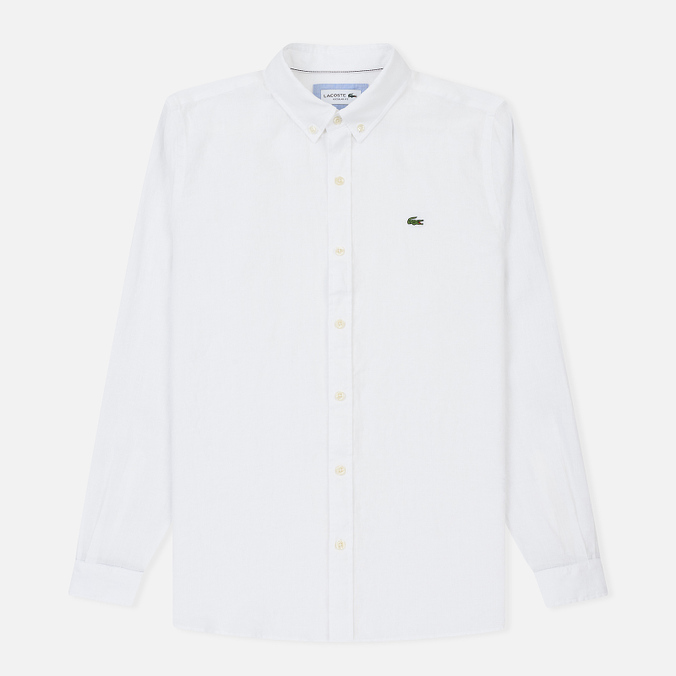 Мужская рубашка Lacoste Regular Fit Linen White