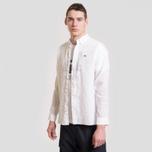 Мужская рубашка Lacoste Regular Fit Linen White фото- 1