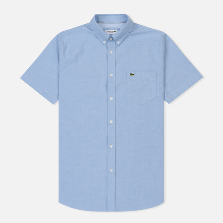 Мужская рубашка Lacoste Regular Fit Oxford Cotton Hemisphere Blue