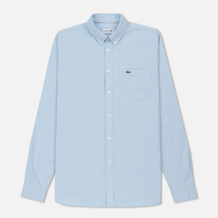 Мужская рубашка Lacoste Regular Fit Oxford Cotton Lagoon/White