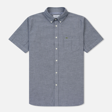 Мужская рубашка Lacoste Regular Fit Oxford Cotton Marine