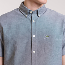 Мужская рубашка Lacoste Regular Fit Oxford Cotton Marine фото- 3