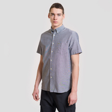 Мужская рубашка Lacoste Regular Fit Oxford Cotton Marine фото- 1