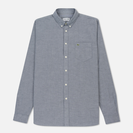 Мужская рубашка Lacoste Regular Fit Oxford Cotton Navy Blue/White