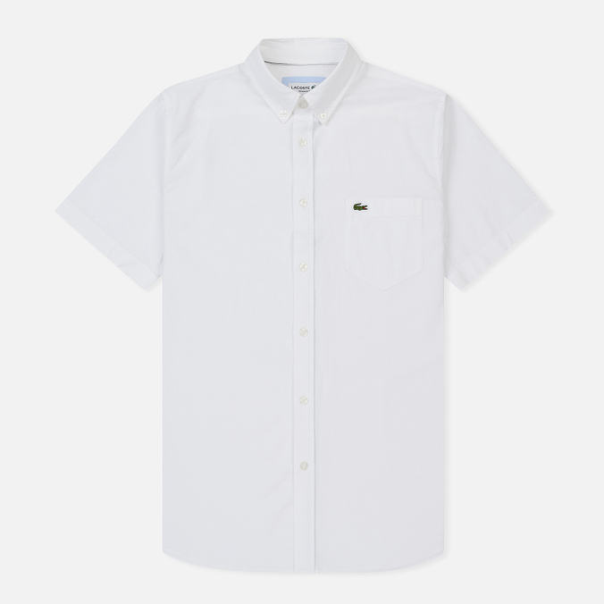 Мужская рубашка Lacoste Regular Fit Oxford Cotton White