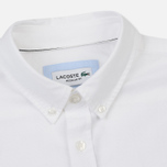 Мужская рубашка Lacoste Regular Fit Oxford Cotton White фото- 1