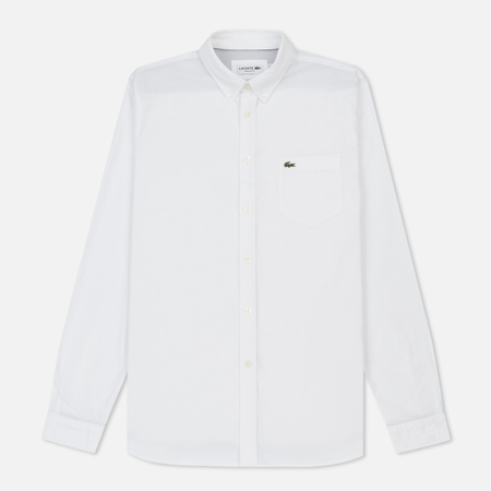 Мужская рубашка Lacoste Regular Fit Oxford Cotton White/White