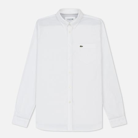 Мужская рубашка Lacoste Regular Fit Oxford Cotton White/White