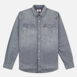 Мужская рубашка Levi's Barstow Western Grey Medium фото- 0