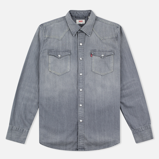 Мужская рубашка Levi's Barstow Western Grey Medium