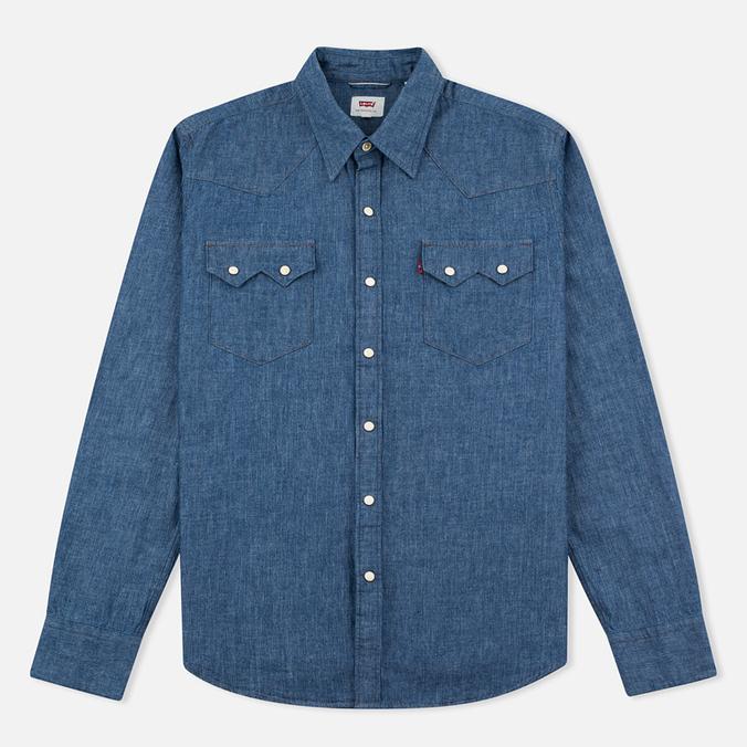 Мужская рубашка Levi's Sawtooth Western Indigo Selvedge