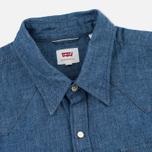 Levi's Sawtooth Western Men's Shirt Indigo Selvedge photo- 1
