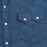 Levi's Sawtooth Western Men's Shirt Indigo Selvedge photo- 2