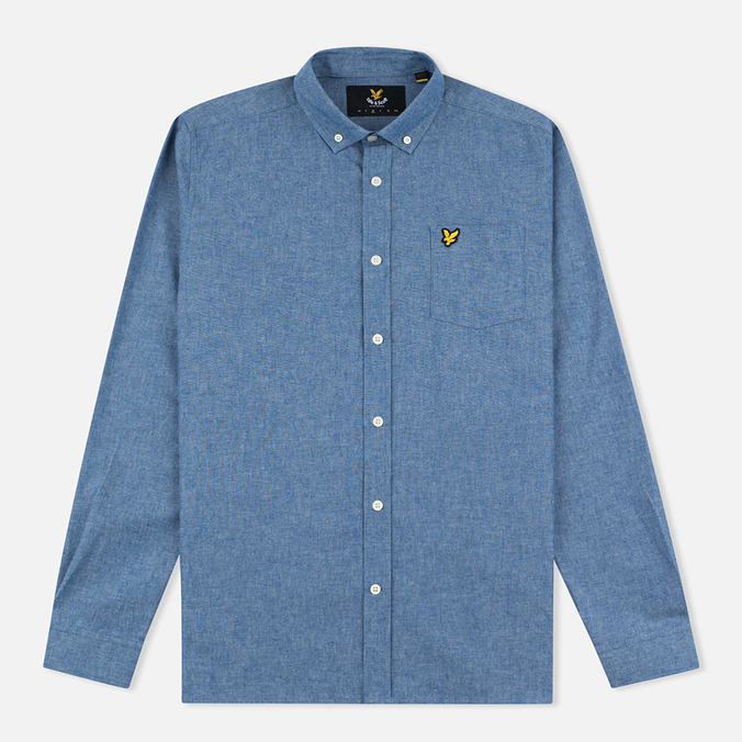 Мужская рубашка Lyle & Scott Chambray Button-Down Dark Chambray