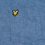 Мужская рубашка Lyle & Scott Chambray Button-Down Dark Chambray фото- 2