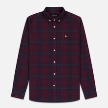 Мужская рубашка Lyle & Scott Check Flannel Burgundy фото- 0