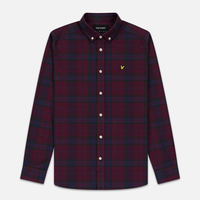 Мужская рубашка Lyle & Scott Check Flannel Burgundy