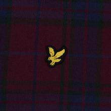 Мужская рубашка Lyle & Scott Check Flannel Burgundy фото- 2