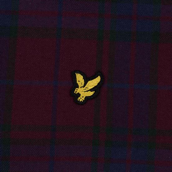 Мужская рубашка Lyle & Scott Check Flannel Burgundy