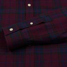Мужская рубашка Lyle & Scott Check Flannel Burgundy фото- 3