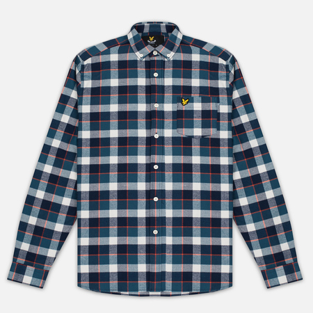 Lyle & Scott Check Flannel Men's Shirt Off White