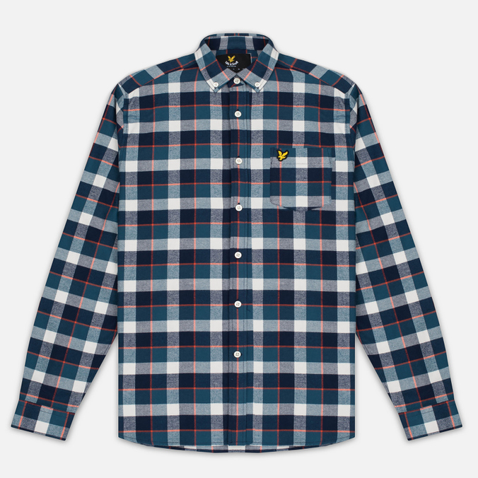 Мужская рубашка Lyle & Scott Check Flannel Off White