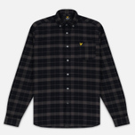 Мужская рубашка Lyle & Scott Check Flannel True Black фото- 0