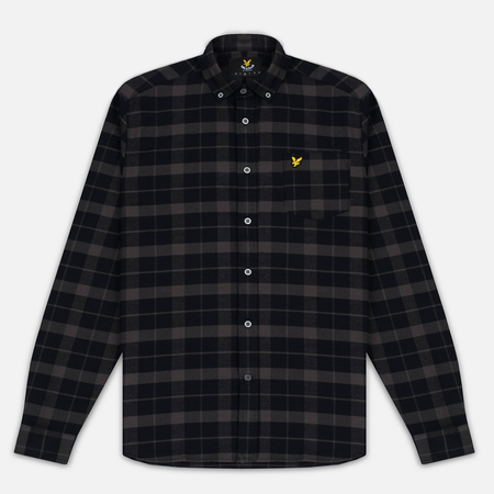 Lyle & Scott Check Flannel Men's Shirt True Black