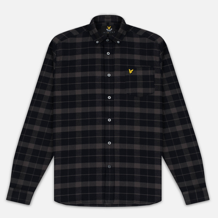 Мужская рубашка Lyle & Scott Check Flannel True Black