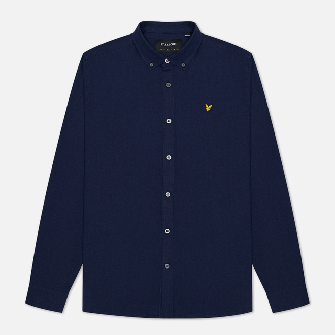 Мужская рубашка Lyle & Scott Cotton Linen Navy