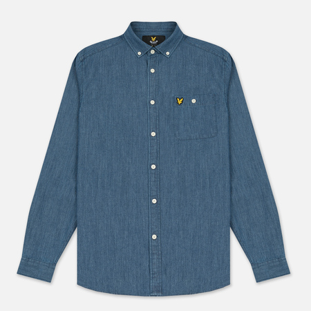 Мужская рубашка Lyle & Scott Denim Light Indigo