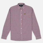 Мужская рубашка Lyle & Scott Gingham Claret Jug фото- 0