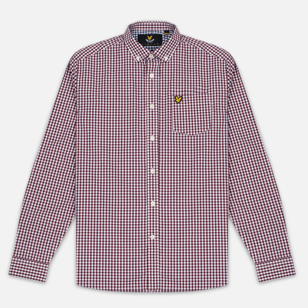 Lyle & Scott Gingham Men's Shirt Claret Jug