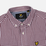 Мужская рубашка Lyle & Scott Gingham Claret Jug фото- 1