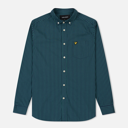 Мужская рубашка Lyle & Scott LS Slim Fit Gingham Alpine Green