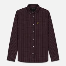 Мужская рубашка Lyle & Scott LS Slim Fit Gingham Berry/True Black фото- 0
