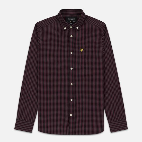 Мужская рубашка Lyle & Scott LS Slim Fit Gingham Berry/True Black