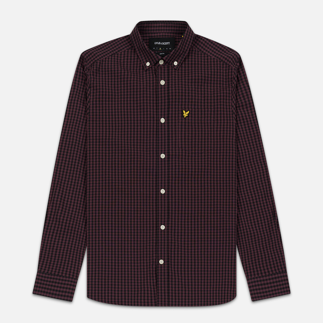 Мужская рубашка Lyle & Scott LS Slim Fit Gingham Berry/True Black