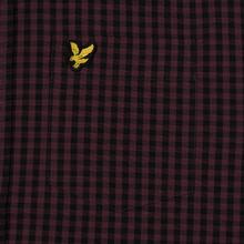 Мужская рубашка Lyle & Scott LS Slim Fit Gingham Berry/True Black фото- 2