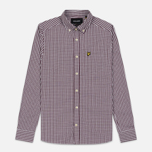 Мужская рубашка Lyle & Scott LS Slim Fit Gingham Burgundy/White фото- 0