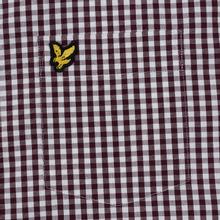 Мужская рубашка Lyle & Scott LS Slim Fit Gingham Burgundy/White фото- 2