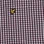 Мужская рубашка Lyle & Scott LS Slim Fit Gingham Burgundy/White фото - 2